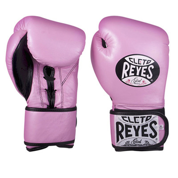 클레토 레예스 글러브 Cleto Reyes Lace up Hook and Loop Hybrid Boxing Gloves (Pink)