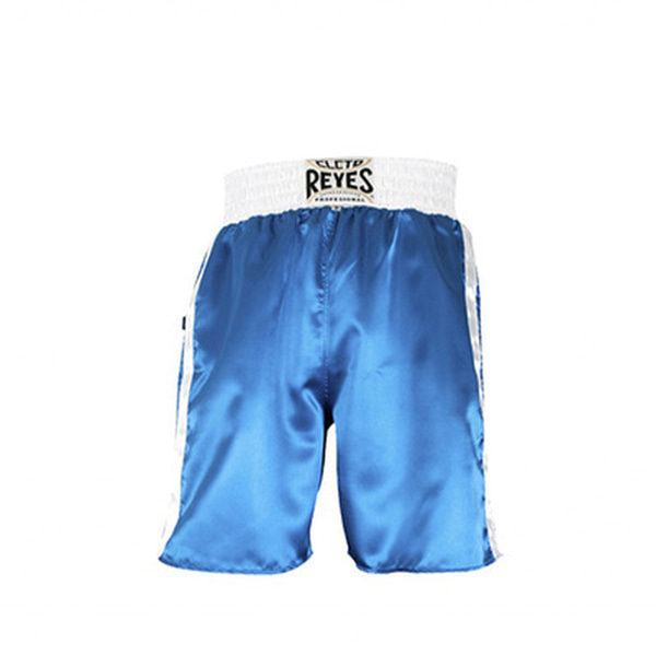 클레토 레예스 복싱 트렁크 Cleto Reyes Boxing trunk in satin polyester(Blue&White)