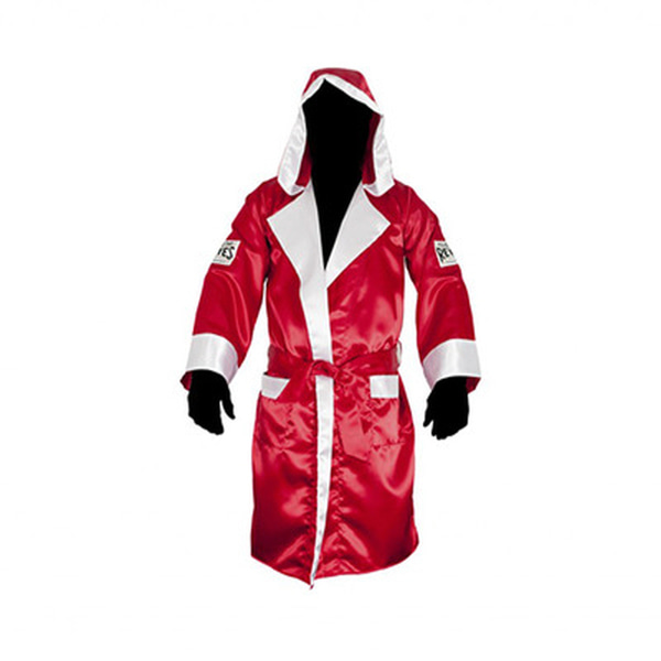 클레토 레예스 복싱가운 Cleto Reyes Boxing Robe with Hood in Satin Polyester[Red & White]