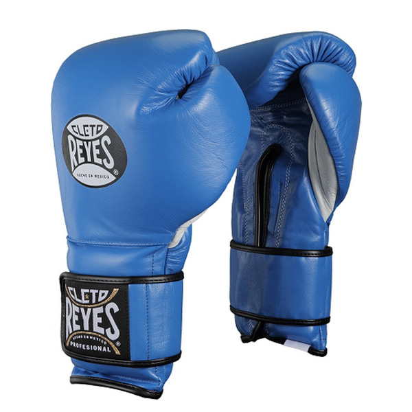 클레토 레예스 훅앤루프 글러브 벨크로 클로져 블루 (14oz) Cleto Reyes Training Hook and Loop Gloves with Velcro Closure 14oz (Electric Blue) [CE614A]