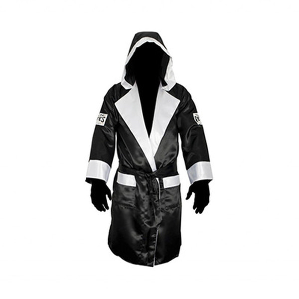 클레토 레예스 복싱가운 Cleto Reyes Boxing Robe with Hood in Satin Polyester(Black & White)