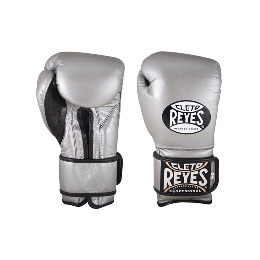 레예스 트레이닝 글러브 훅앤룹 벨크로 클로져 Cleto Reyes Training Hook and Loop Gloves with Velcro Closure Titanium 12oz