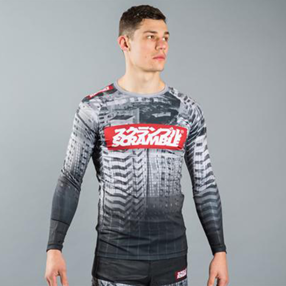 스크램블 토시 래시가드 UFC BJJ MMA Athletics 이종격투기 Scramble Toshi Grappling Rashguard 사이즈 (S-L)