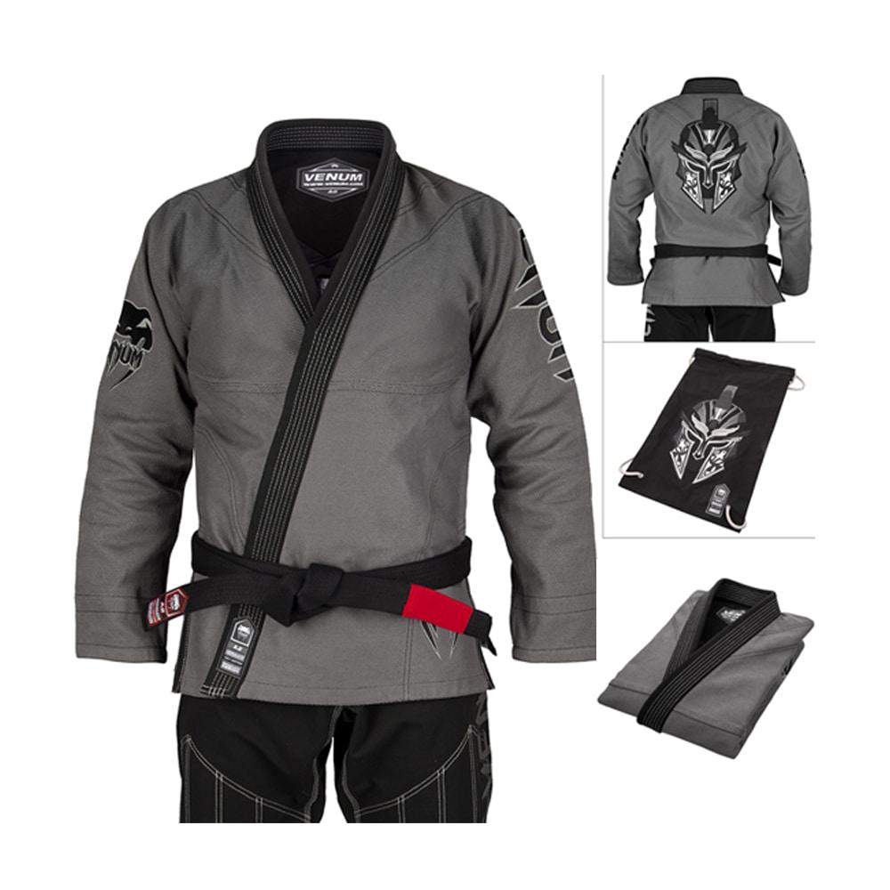 [베넘] 앱솔루트 글레디에이터 주짓수 도복 (가방 포함) A1-그레이/블랙 Venum Absolute Gladiator BJJ Gi (Bag included) - Grey/Black [VENUM-03327-203-A1]