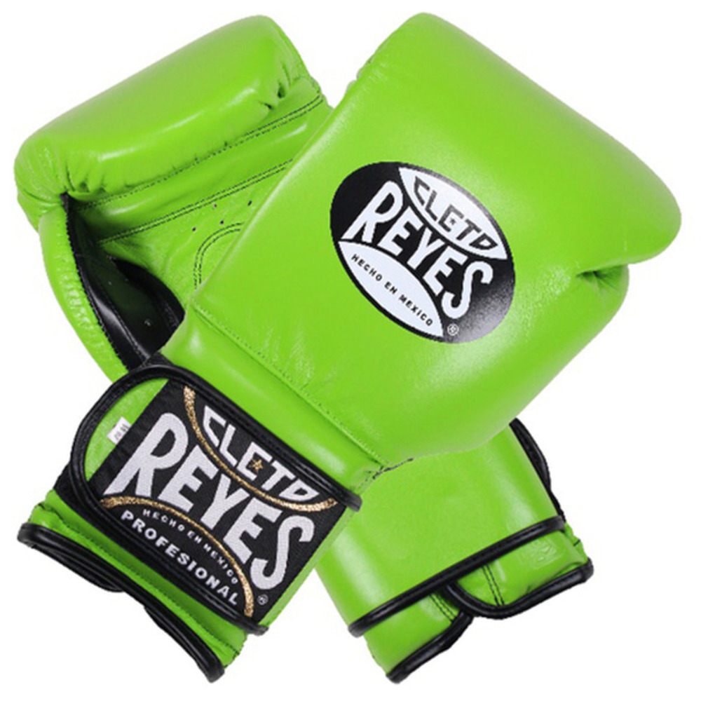 클레토 레예스 훅앤루프 글러브 벨크로 클로져 그린 (14oz) Cleto Reyes Training Hook and Loop Gloves with Velcro Closure 14oz (Citrus Green) [CE614G]