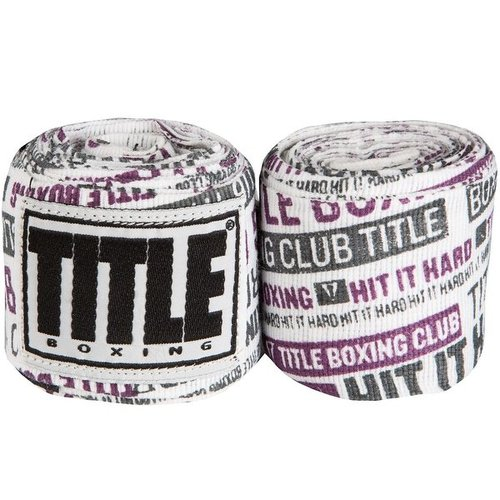 타이틀 세미-엘라스틱 프린트 핸드랩 HIT IT HARD PURPLE TITLE SEMI-ELASTIC PRINT HANDWRAPS ASSORTED