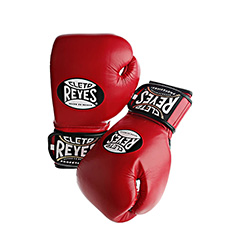클레토 레예스 글러브 Cleto Reyes Lace up Hook and Loop Hybrid Boxing Gloves (Red)