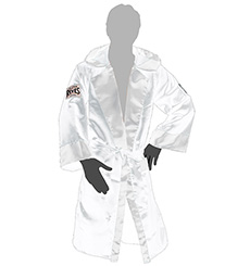클레토 레예스 복싱가운 Cleto Reyes Boxing Robe with Hood in Satin Polyester(White)