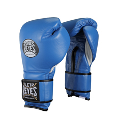 레예스 훅앤룹 트레이닝 글러브 14온스 Cleto Reyes Hook and Loop Closure Training Gloves 14oz (Blue)