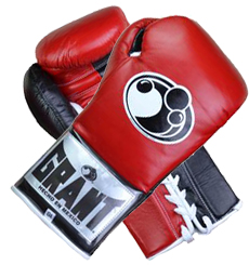 그랜트 복싱 글러브 GRANT PUNCHER'S MODEL PRO FIGHT GLOVES(RED/BLACK)