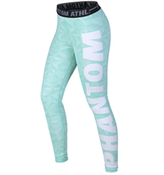 "WOMEN COMPRESSION LEGGINGS ""SHADE""-TURQUOIS-SMALL"