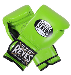 레예스 훅앤룹 트레이닝 글러브 14온스 Cleto Reyes Hook and Loop Closure Training Gloves 14oz (Green)