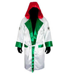 레예스 복싱가운 BOXING ROBES WITH HOOD IN SATIN POLYESTER(Mexflag)