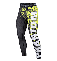"COMPRESSION LEGGINGS ""VECTOR NEON SPLATTER"""