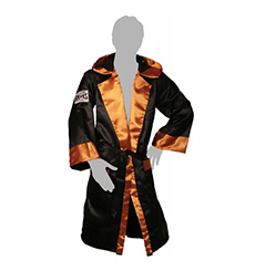 레예스 복싱가운 Cleto Reyes Boxing Robe with Hood in Satin Polyester(Black & gold)