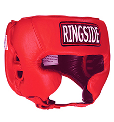RINGSIDE COMPETITION BOXING HEADGEAR WITH CHEEKS(Red)