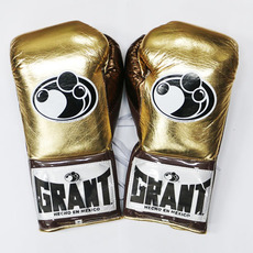 그랜트 글러브 Grant Boxing Gloves Metallic Gold Pro Fight Gloves