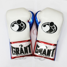 그랜트 글러브 Grant Boxing Gloves Metallic White Pro Fight Gloves
