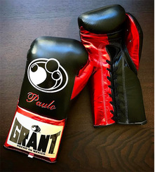 그랜트 글러브 Grant Boxing Gloves Black/Red Pro Fight Gloves