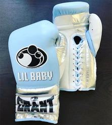 그랜트 글러브 Grant Boxing Gloves Sky White Pro Fight Gloves