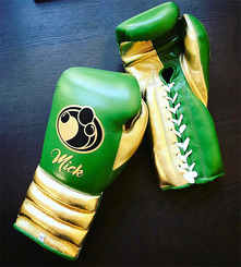 그랜트 글러브 Grant Boxing Gloves Dark_Green Gold Pro Fight Gloves