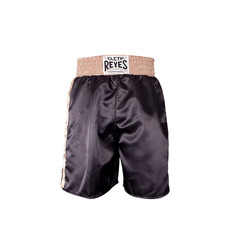 레예스 복싱 트렁크 Cleto Reyes Boxing trunk in satin polyester(Black&Gold)[S]