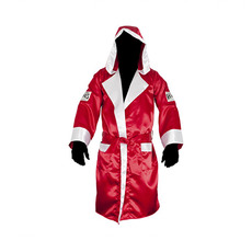레예스 복싱가운 Cleto Reyes Boxing Robe with Hood in Satin Polyester[Red & White]