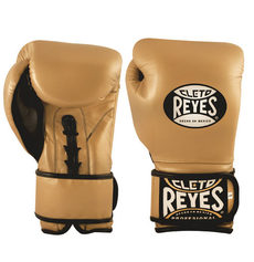 레예스 글러브 Cleto Reyes Lace up Hook and Loop Hybrid Boxing Gloves (gold)