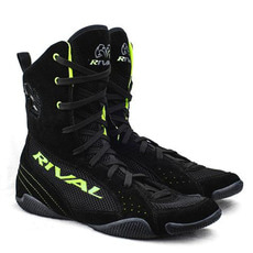 "라이벌 복싱화 RSX-ONE ""CLASSIC"" HI-TOP BOXING BOOTS Black-Lime"