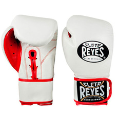 클레토 레예스 글러브 Cleto Reyes Lace up Hook and Loop Hybrid Boxing Gloves(white)