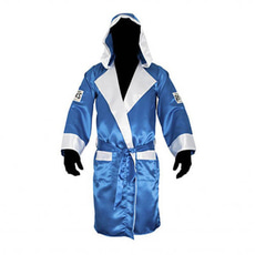클레토 레예스 복싱가운 Cleto Reyes Boxing Robe with Hood in Satin Polyester[blue & White]