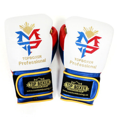 탑복서 파퀴아오 복싱글러브 (10oz/12oz/14oz) TopBoxer Pacquiao Gloves - WHite/Yellow