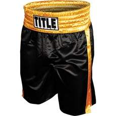 타이틀 엣지 복싱 트렁크 TITLE EDGE BOXING TRUNKS BLACK/GOLD