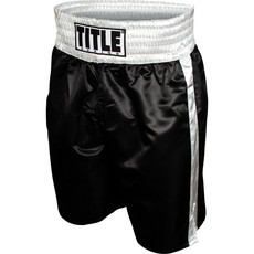 타이틀 엣지 복싱 트렁크 TITLE EDGE BOXING TRUNKS BLACK/SILVER