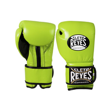 클레토 레예스 트레이닝 훅앤룹 글러브 벨크로 클로져 Cleto Reyes Training Hook and Loop Gloves with Velcro Closure Citrus 12OZ Green