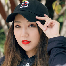 브루클린 복싱 [Brooklyn] South Korea Logo Dad Hat - Black