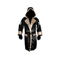 클레토 레예스 복싱가운 Cleto Reyes Boxing Robe with Hood in Satin Polyester[black& gold]