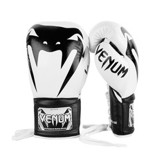 베넘 자이언트 프로 복싱글러브 양가죽 (Nappa Leather)  - 화이트/블랙 Venum Giant 2.0 Pro Boxing Gloves - White/Black SIZE 12Oz - VENUM-03236-210-12oz