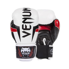 베넘 엘리트 복싱글러브 - 화이트 블랙 레드 Venum Elite Boxing Gloves - White/Black/Red SIZE10 Oz - HK-VENUM-0985-10oz