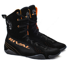 "라이벌 복싱화 RSX-ONE ""CLASSIC"" HI-TOP BOXING BOOTS Black-Orange"