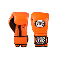 클레토 레예스 훅앤루프 글러브 벨크로 클로져 타이거 오렌지 (12oz,14oz) Cleto Reyes Training Hook and Loop Gloves with Velcro Closure (Tiger Orange) [CE612O/CE614O]