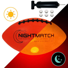 [해외배송][나이트매치] 라이트업 럭비공 3호 / 6호 NIGHTMATCH Light Up Football INCL Ball Pump Spare Batteries