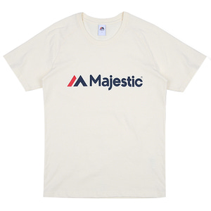 MAJESTIC] ML172MCATS011 마제스틱 기본 로고 레터링 반팔 티셔츠(아이보리)(1000014212)Majestic Bagic Lettering Short Sleeves T-Shirts(Ivory)