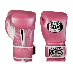 클레토 레예스 훅앤루프 글러브 벨크로 클로져 핑크 (14oz) Cleto Reyes Training Hook and Loop Gloves with Velcro Closure 14oz (Pink) [CE614P]