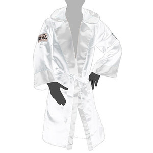[클레토 레예스] 복싱가운 로브 화이트 Cleto Reyes Boxing Robe with Hood in Satin Polyester