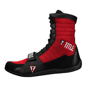 타이틀 링 프릭 복싱 슈즈 블랙/레드 TITLE RING FREAK BOXING SHOES BLACK/RED [TBS18 BK/RD]