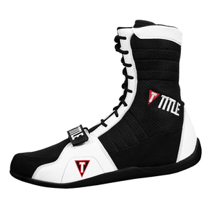 타이틀 링 프릭 복싱 슈즈 블랙/화이트 TITLE RING FREAK BOXING SHOES BLACK/WHITE [TBS18 BK/WH]