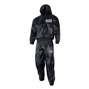 타이틀 사우나 후드 수트 TITLE SAUNA SUIT WITH HOOD ( M,L,X-L) BLACK 블랙